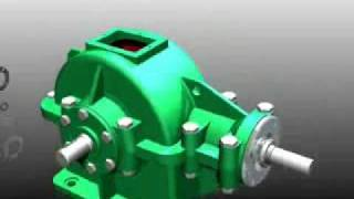 Autodesk Inventor 11 Bevel Gear (transmission Box) 3D