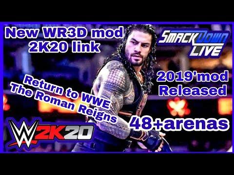 Released! New Mod Wr3d 2K20   Wr3d wwe mod 2k19  Cast limit