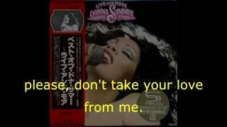 "Donna Summer - MacArthur Park Suite LYRICS - SHM ""Live and More"" 1978"