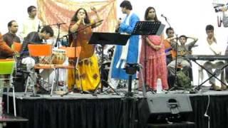 "Navratri Garba  Pramesh Nandi's . "" Swar Gunjan"" Musical Group-2009, Brampton Soccer Centre,Canada ."
