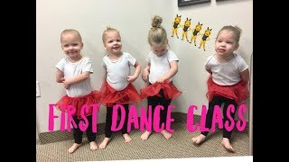 QUADRUPLET SISTERS FIRST DANCE CLASS