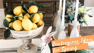 CENTERPIECE IDEAS FOR DINING TABLES | SPRING DECOR 2020