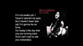 "Video thumbnail of ""I'm not awake yet - Rory Gallagher lyrics"""
