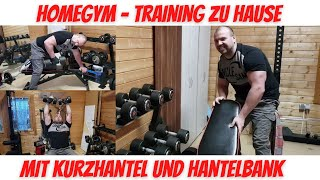 Training zu Hause im Home Gym | speziell Kurzhantel und Hantelbank