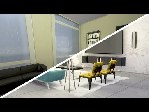 COLORFUL INDUSTRIAL APARTMENT // The Sims 4: Fixer Upper