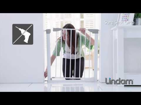 Munchkin Lindam ворота безопасности Sure Shut Orto 75-82 см металл