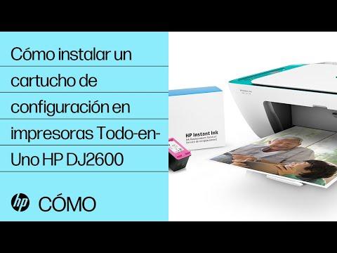 Cómo instalar un cartucho de configuración en impresoras Todo-en-Uno HP DeskJet de la serie 2600