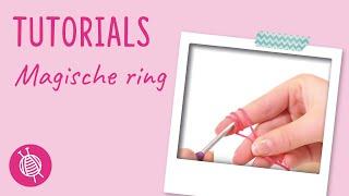 Magische ring haken linkshandig