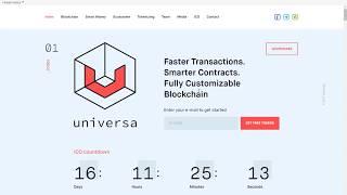 UNIVERSA-Блокчейн Протокол Нового Поколения