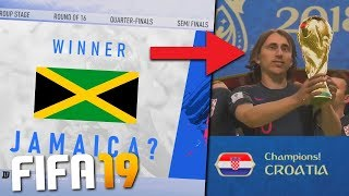 I PLAYED THE FIFA WORLD CUP WITH TEAMS NOT ON FIFA 19