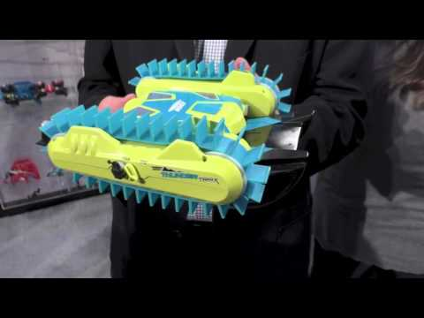Air Hogs Thunder Trax, RC Transforming Tank and Boat, First Look Toy Fair 2016