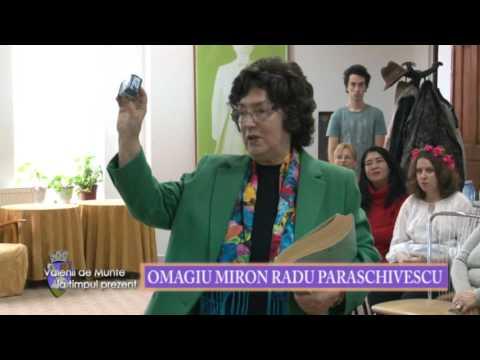 Emisiunea Vălenii de Munte la timpul prezent – 19 februarie 2016 – Omagiu Miron Radu Paraschivescu