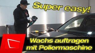 Super easy! Wachs auftragen mit Poliermaschine ADBL Soft Pad - Soft99 King of Gloss Wachs auftragen