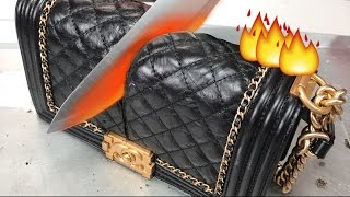 Glowing 1000 DEGREE KNIFE VS. CHANEL BAG + MAKEUP - Video Youtube