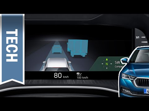 Virtual Cockpit / digitaler Tacho im neuen Skoda Octavia 2020 im Test: Assistenz, Karte, Fahrdaten