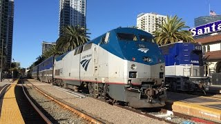 Amtrak California HD 60fps: Riding Pacific Surfliner Train 785 (San Diego to Los Angeles) 3/8/16