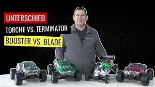 Unterschied der Amewi Fahrzeuge Torche, Booster, Terminator und Blade