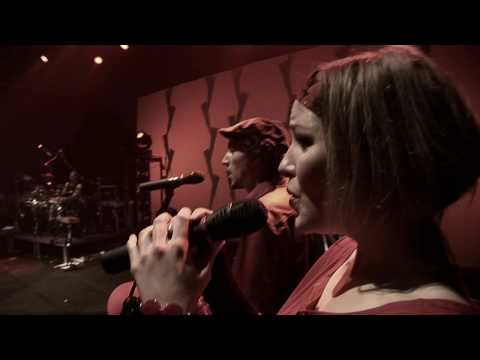 Judith with show band 'Big in Japan' live