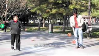 Video : China : Diabolo in TuanJieHu Park 团结湖公园, BeiJing - video