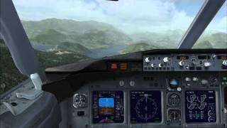 preview picture of video 'FSX B737 Landung in Lugano'