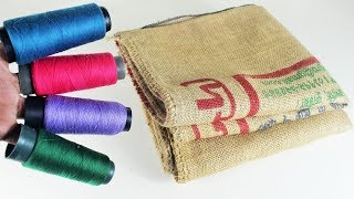 পাটের বস্তা দিয়ে চমৎকার আইডিয়া | Diy Arts And Crafts With Jute Sack