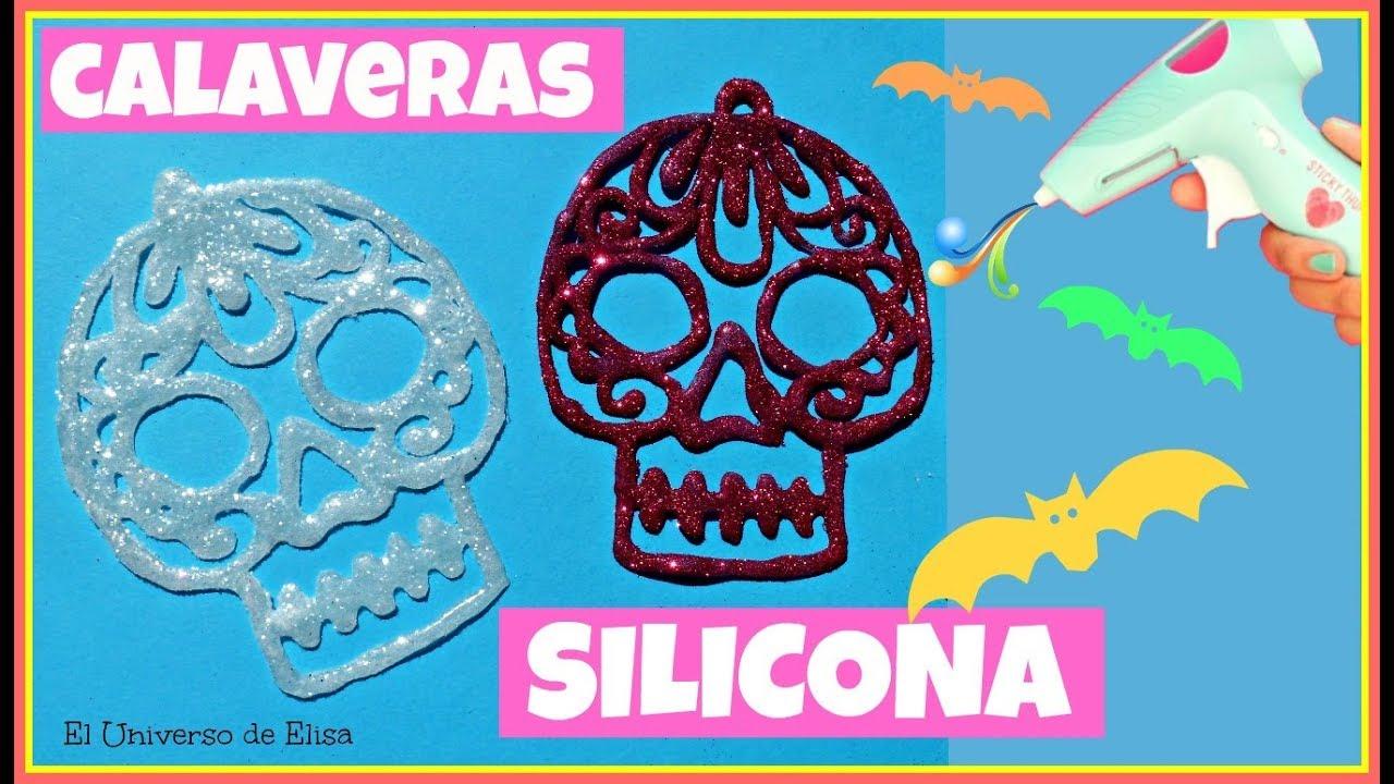 Decoración para Halloween y el Día de los Muertos, Calaveras de Silicona Calierte,