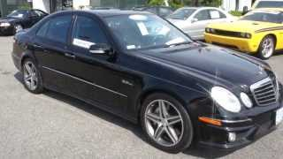 2008 Mercedes Benz E63 For Sale~Black/Black~Pano Roof~Key N Go~Ventilated Seats
