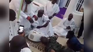 Davido, Chioma And Friends Go To Ooni Of Ife's Palace To Juba; Receive Blessings.