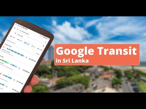 Google Transit Feature in Sri Lanka