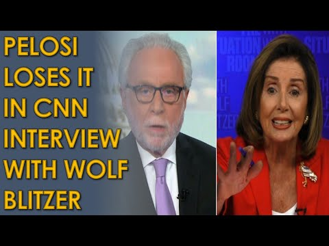 Nancy Pelosi LASHES OUT at Wolf Blitzer on CNN over stimulus Deal