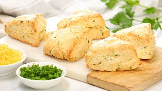 Cheddar & Chives Scones | Delicious Fall Comfort Foods by The Domestic Geek