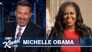 Michelle Obama on Quarantine with Barack, Sasha & Malia, Eating on Foreign Trips & New Netflix Show
