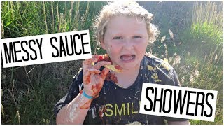 Messy Sauce Showers Challenge!