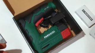 Unboxing and Testing Parkside Cordless Stapler Nailer PAT 4 D5