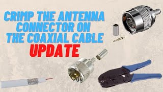 Antennenstecker an Koaxialkabel crimpen UPDATE