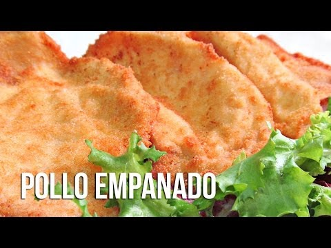 Filetes empanados de pechuga de pollo