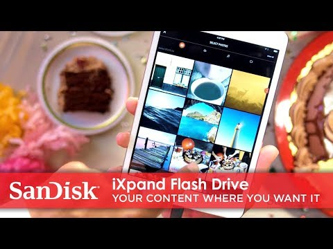 Video van directe overdracht van een iPhone naar een iPad via de iXpand-flashdrive