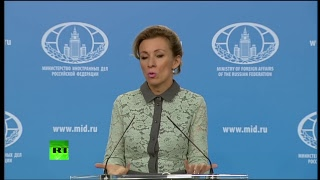 Мария Захарова проводит еженедельный брифинг (23 ноября 2017)