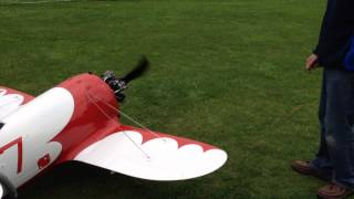 preview picture of video 'Sound of a Moki 5 cyl. in a GeeBee R2'