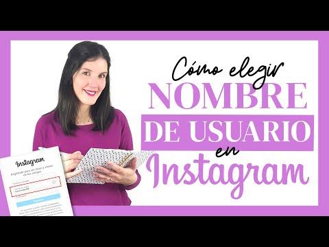 Cómo elegir un buen NOMBRE DE USUARIO en Instagram