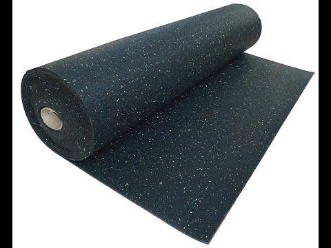Регупол черный 100%, толщина 6мм, плотность 1000кг/м3