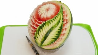 New Design Watermelon Carving | Fruit Art By J. Pereira Art Carving