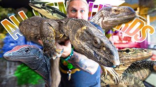 TOUR OF ALL MY GIANT LIZARDS!!! | BRIAN BARCZYK
