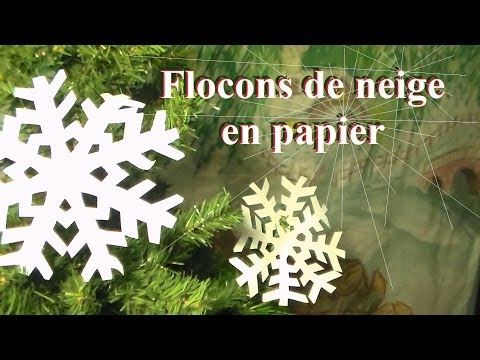 fabriquer un flocon de neige en papier bricolage de no l. Black Bedroom Furniture Sets. Home Design Ideas