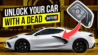 How to unlock your car with a dead battery. Any Chevrolet!