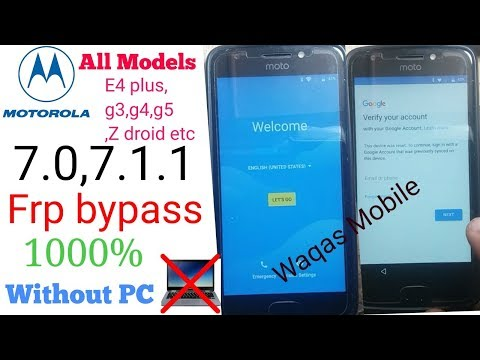 Motorola Z Force Google Account Bypass WITHOUT PC  7 0 OR