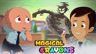 Mighty Raju - The Magical Crayons Trouble | Fun Kids Videos | Cartoon for Kids in Hindi