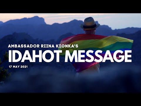 Dr Riina Kionka IDAHOT Message 2021