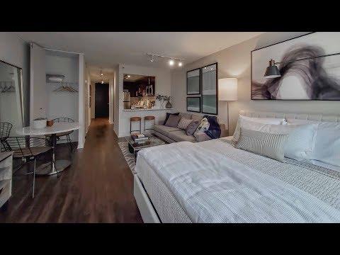 A park-view -02 studio model at North Harbor Tower apartments