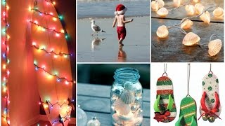 Beach Christmas Crafts Ideas - Coastal Christmas Decor